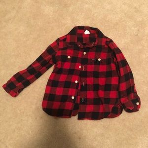 Toddler boy flannel shirt